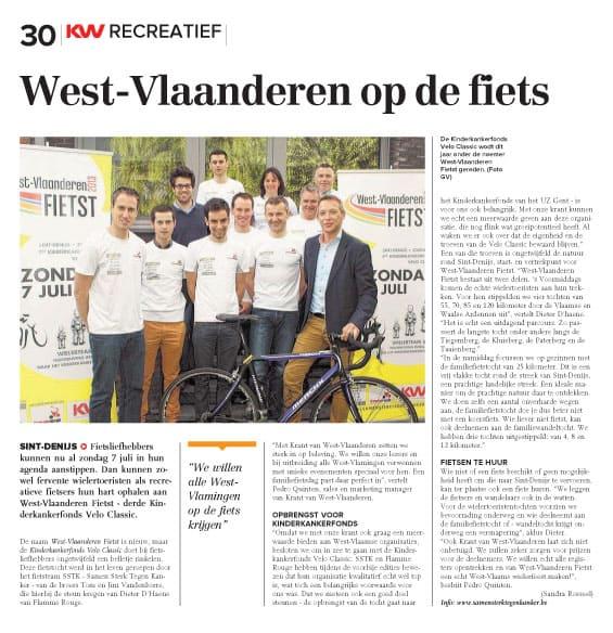 Krant 7jun2013_WestVlaanderenFietst